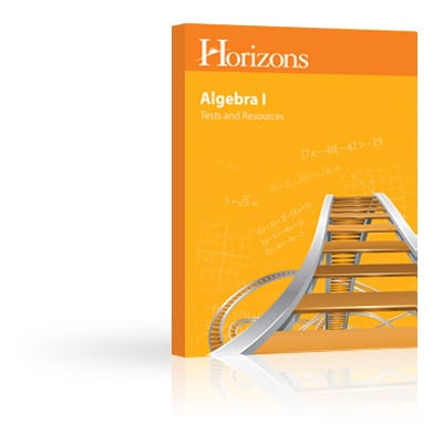 Horizons Algebra I Tests & Resources Book from Alpha Omega Publications