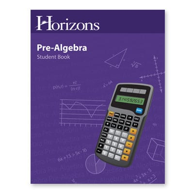 Horizons Pre-Algebra Student Book from Alpha Omega Publications