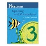 Horizons 3rd Grade Spelling & Vocabulary Student Book from Alpha Omega Publications
