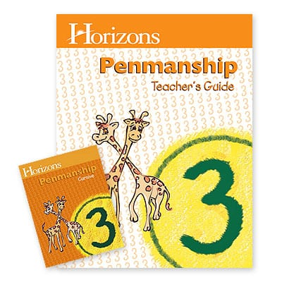 Horizons 3rd Grade Penmanship Set from Alpha Omega Publications