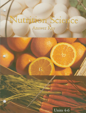 Nutrition Science Score Key 4-6