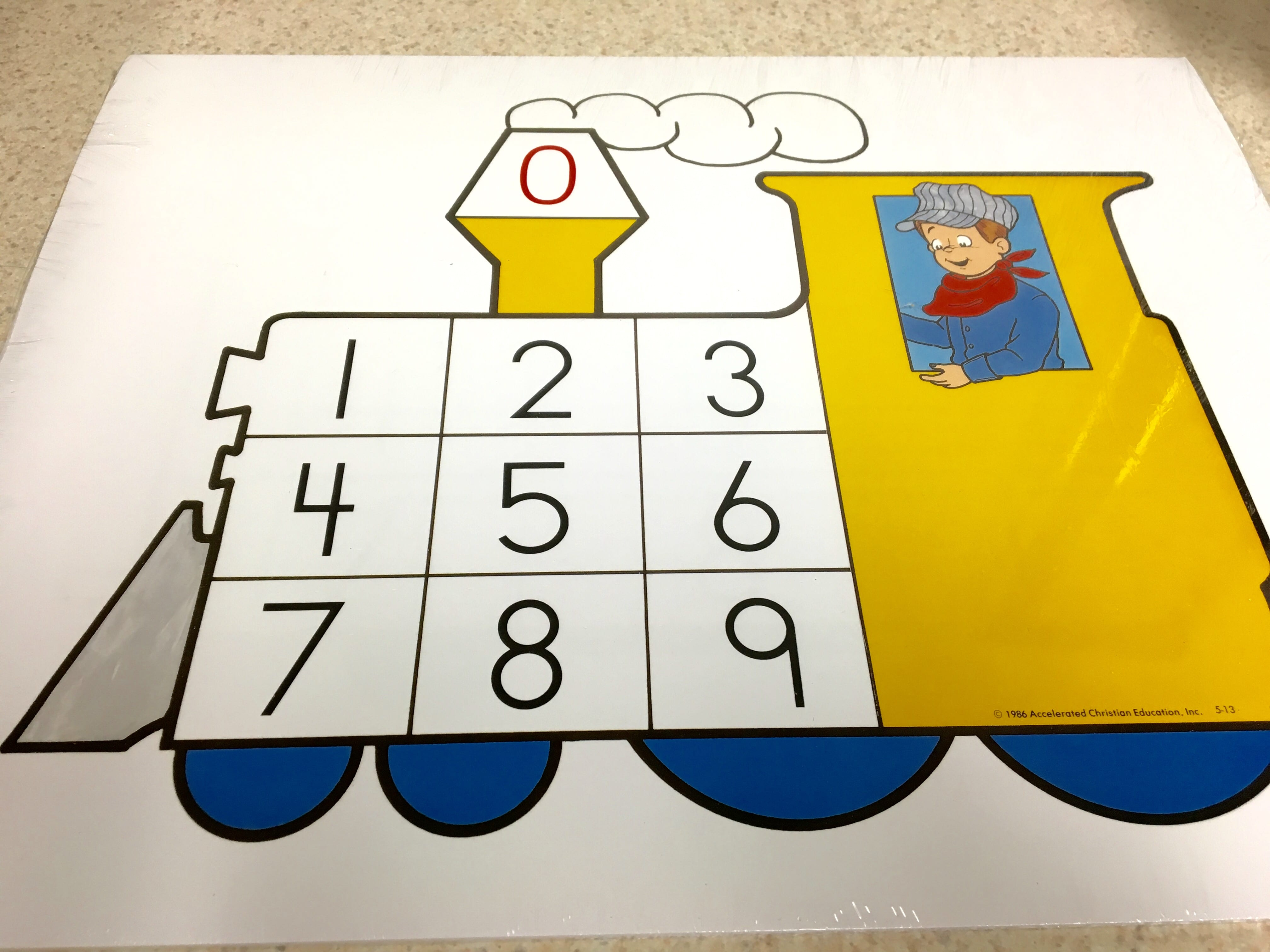 Kindergarten Number Train Cards from ACE