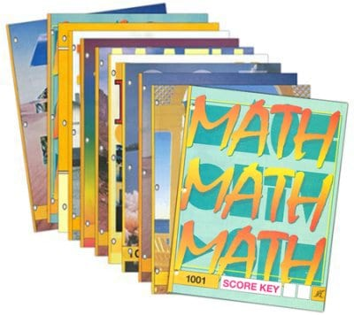 1st Grade Math Answer Key Set by Accelerated Christian Education
