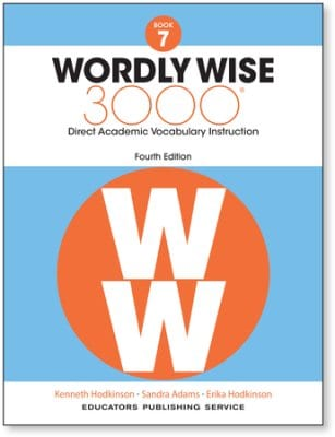 Wordly Wise 3000 4th Edition Grade 7 Student Book Curriculum Express