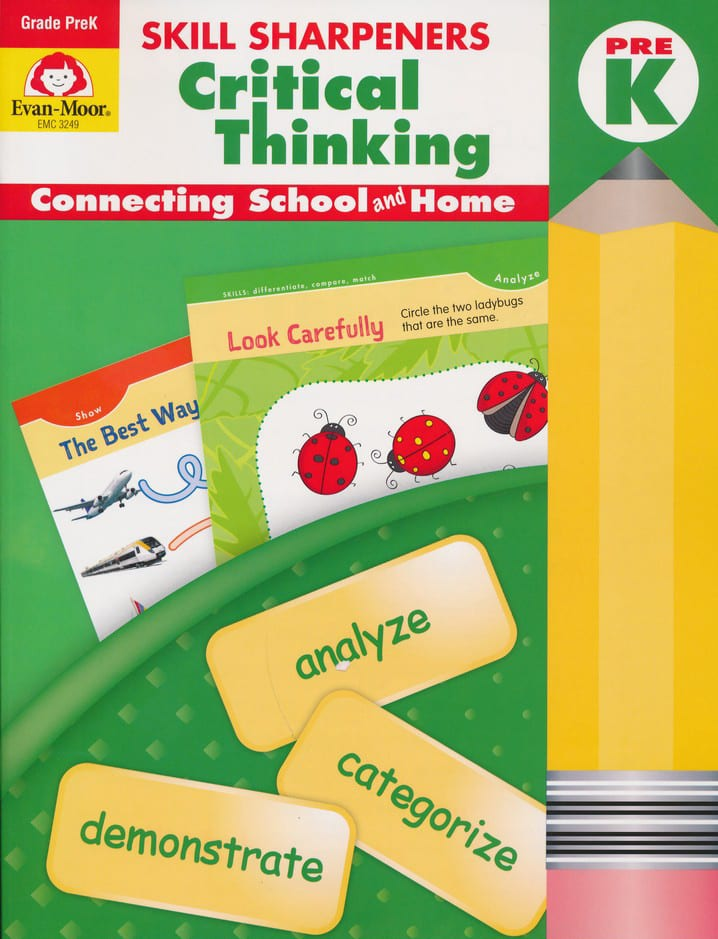 Skill Sharpeners Critical Thinking PreK Activity Book from Evan-Moor