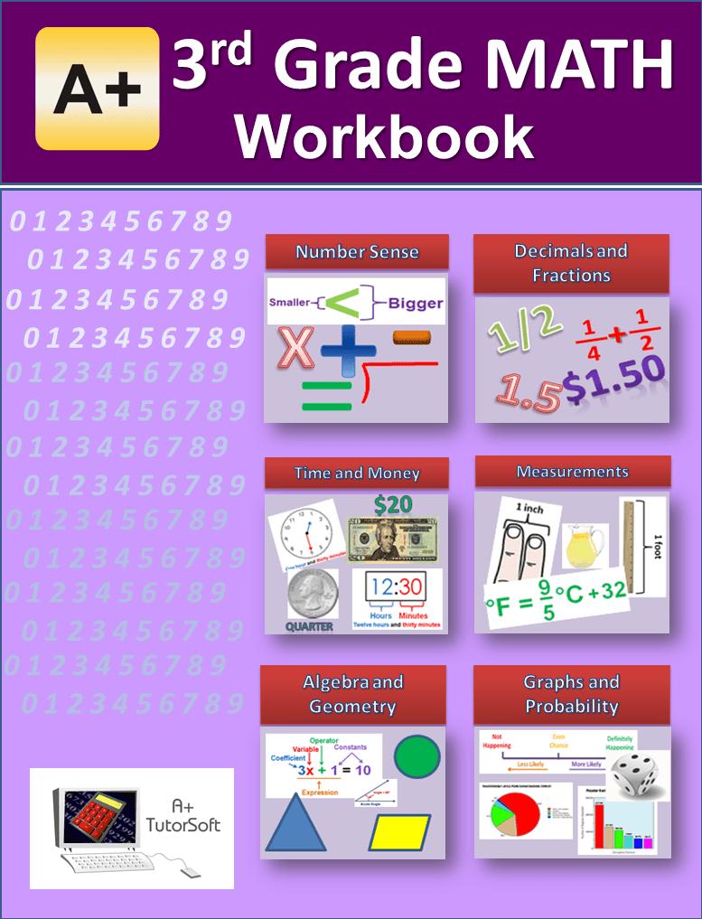 Workbooks 6 grade math workbook : 3rd Grade Math Workbook from A+ Interactive Math - Curriculum Express