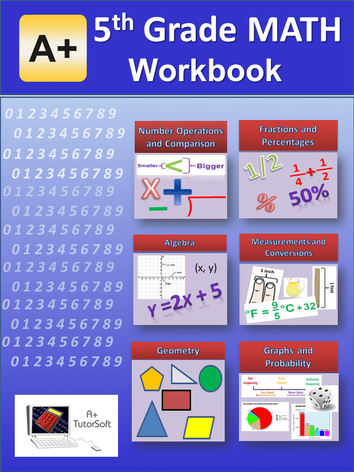 5th Grade Math Workbook from A+ Interactive Math - Curriculum Express
