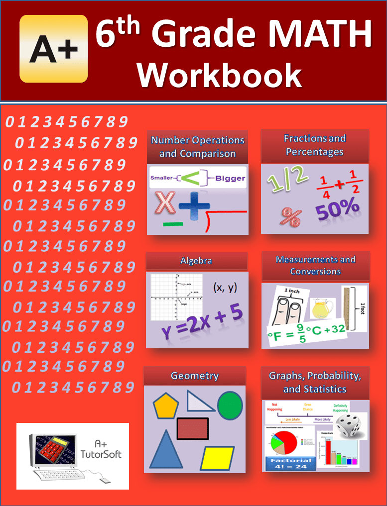 6th Grade Math Workbook from A+ Interactive Math - Curriculum Express