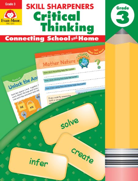 Skill Sharpeners Critical Thinking Grade 3 Activity Book from Evan-Moor